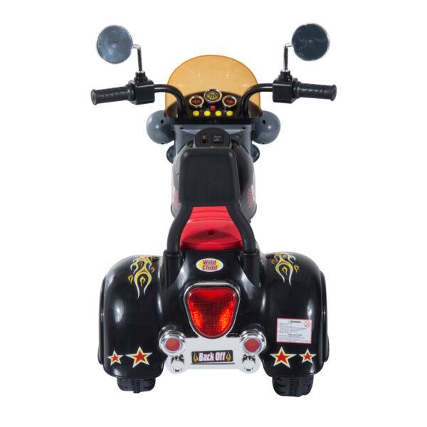 Homcom Moto Elettrica per Bambini con 3 Ruote 6V, Nero
