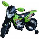 Homcom Moto Cross Elettrica per Bambini, Verde, 107x53x70cm