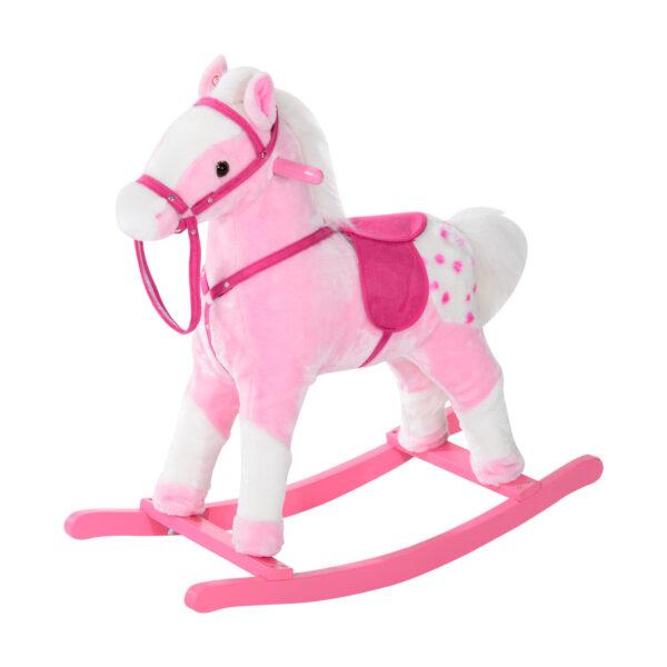 Cavallo a Dondolo per Bambine con Suoni, Rosa