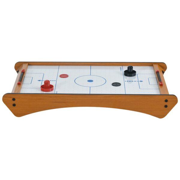Tavolo Air Hockey Portatile con Ventilatore e Accessori Inclusi (Manopole, Dischetti, Segnapunti) 72.5x40x10.5cm