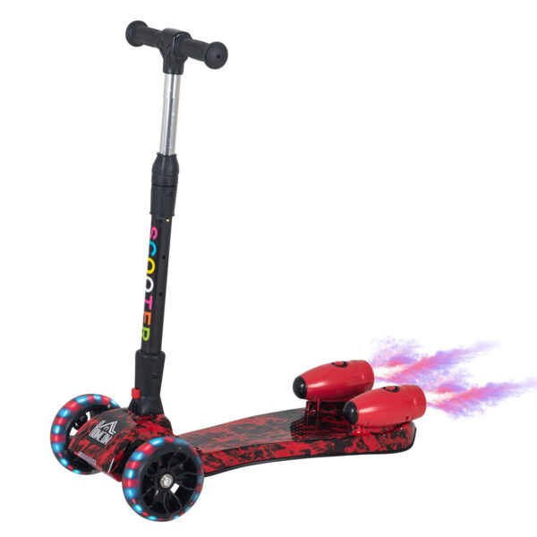Monopattino 3 ruote pieghevole altezza regolabile per bambini 3-8 anni rosso