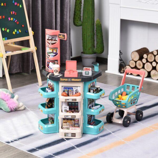 Set Giocattolo Supermercato per bambini 3-6 anni con accessori inclusi, verde