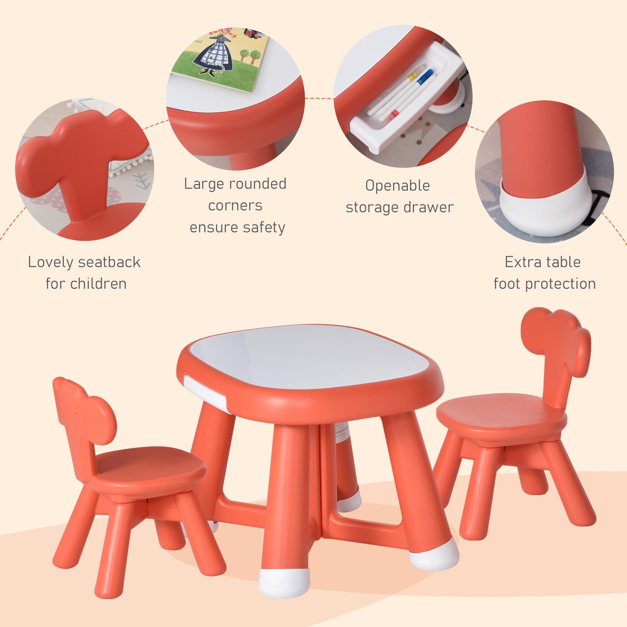 Set Tavolo Con 2 Sedie Per Bambini E Piano Di Lavoro Con Lavagnetta Idea Kids