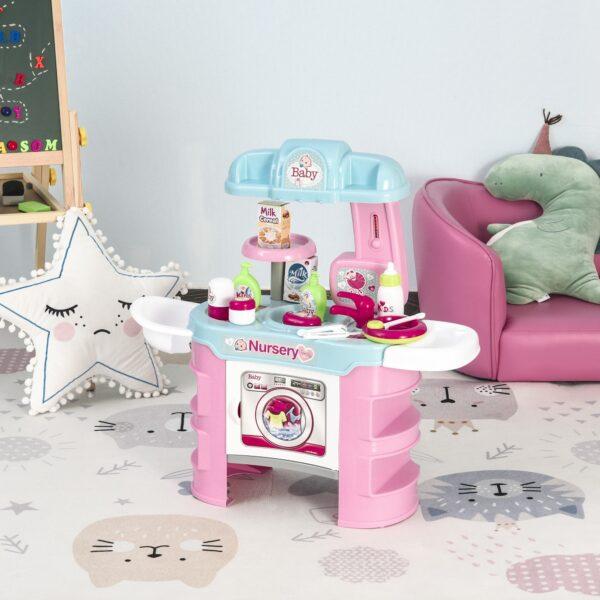Baby Nursery Giocattolo per Bambole con 25 Accessori Bambini 3-6 Anni