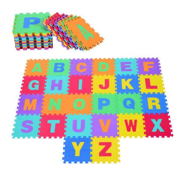 Tappeto Puzzle da Gioco Set 26 Pezzi 31x31cm, colorato