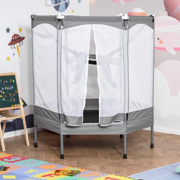 Trampolino Tappeto Elastico per Bambini Casa e Giardino, Rete di Sicurezza