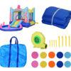 Castello Gonfiabile per Bambini con Scivolo e Piscina Tema Mare