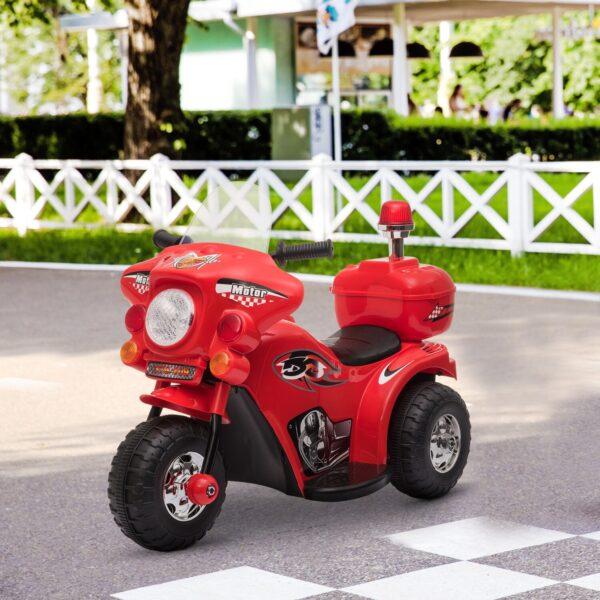 Motoretta per bambini 18-36 Mesi con 3 Ruote Luci e Suoni Realistici Rossa