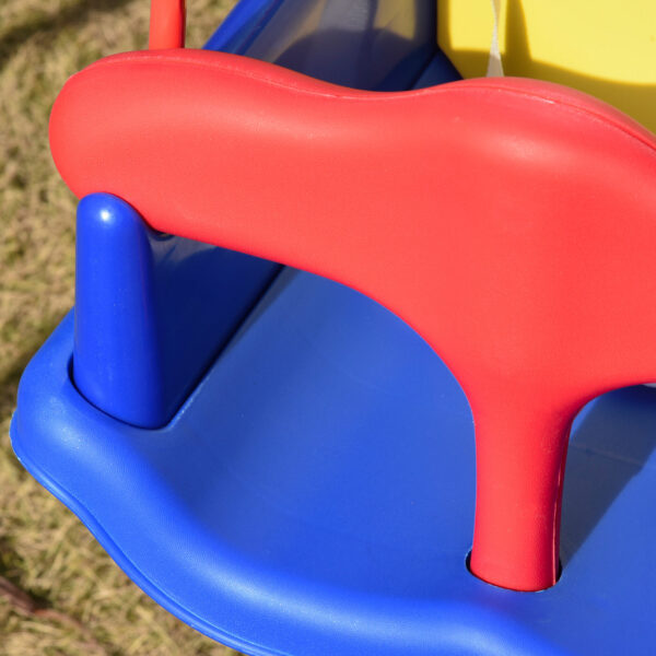 Altalena per Bambini in Metallo e Seggiolino con Cintura di Sicurezza