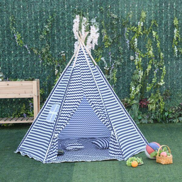 Tenda Indiana per Bambini Teepee con Borsa di Trasporto e 2 Cuscini