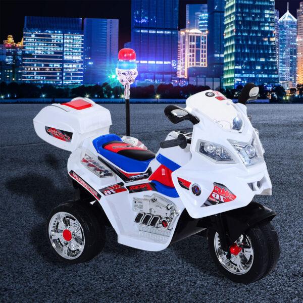 Moto Elettrica Motoretta per bambini 3 Ruote con Musica, Luci 112 × 51 × 72.5cm